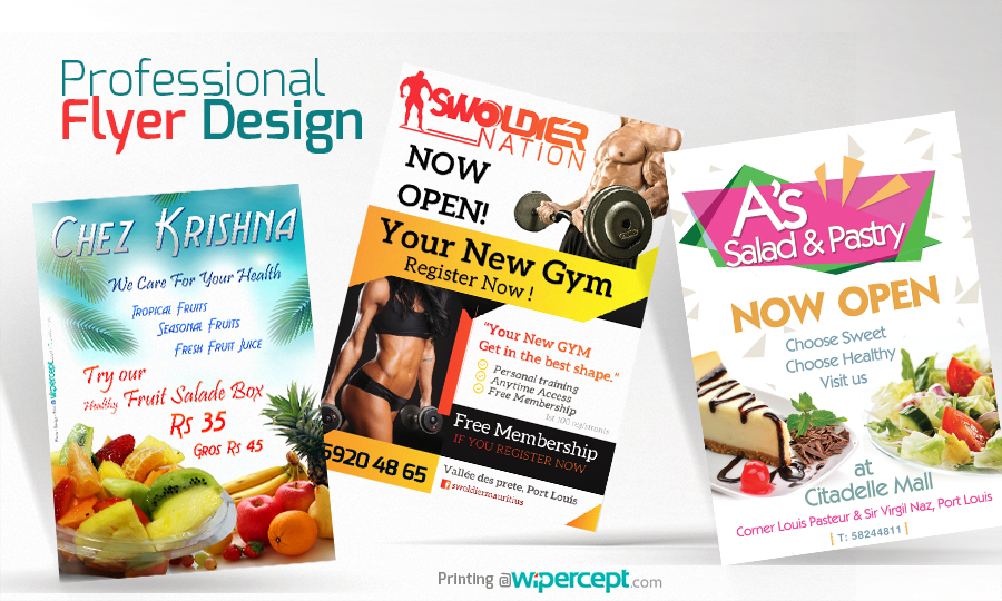 Flyer Design and printing in Mauritius